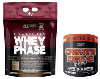 4 Dimension Nutrition Whey Phase 4500g + Nutrex CREATINE DRIVE 150g