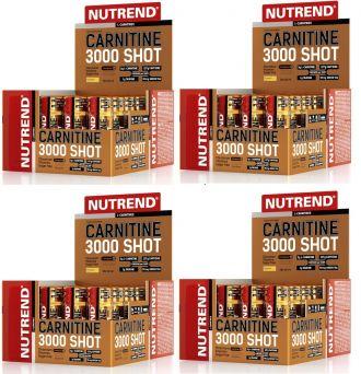 AKCE 3+1 ZDARMA Nutrend CARNITINE 3000 SHOT 20x60ml