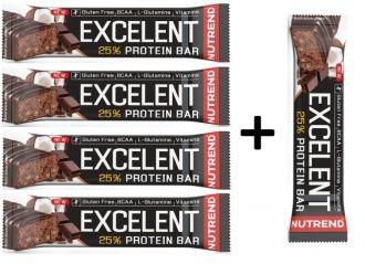 Akce 4+1 zdarma Nutrend Excelent Protein bar 85g