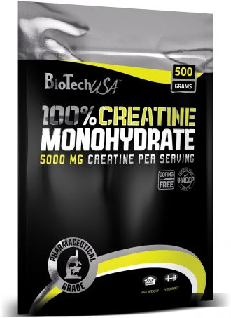 BioTech 100% CREATINE MONOHYDRATE 500g sáček