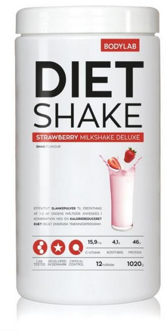 Bodylab Diet Shake 1020g jahoda
