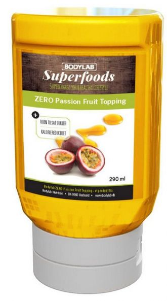 Bodylab Zero Topping Syrup 290ml passion fruit