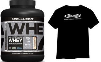 CELLUCOR COR-Performance Whey 1800g + Muscletech HYDROXYCUT Pro Clinical 60cps. + Triko + Bag