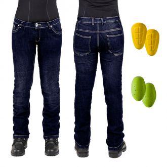 Dámské moto jeansy W-TEC C-2011 modré