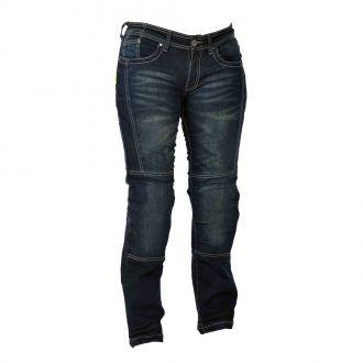 D�msk� motocyklov� jeansy W-TEC Alinna