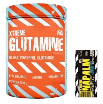 FA Xtreme Glutamine 500g + Napalm tester ZDARMA