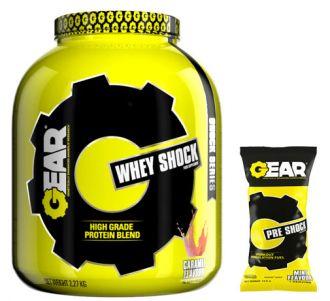 GEAR  WHEY SHOCK 2,2kg + TESTER PRE SHOCK