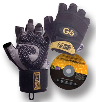 GoFit Diamond-TAC Wristwrap Glowess omotávkou zápěstí