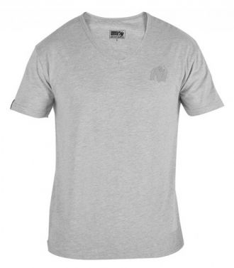 GORILLA WEAR Essential V-Neck T-Shirt Gray