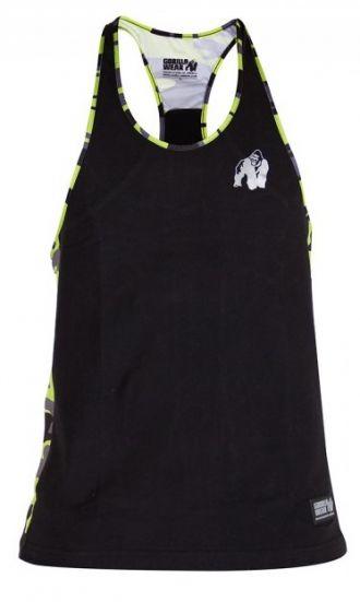 GORILLA WEAR Sacramento Camo Mesh Tanktop Black/Neon Lime