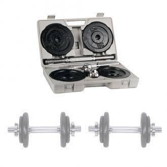 Jednoručky v kufříku inSPORTline set 2x10 kg