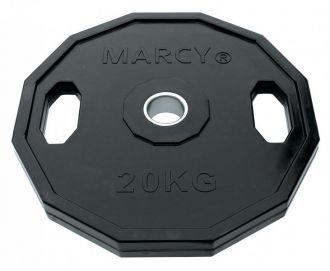 Marcy kotou� pogumovan� hranat� Olympic Rubber Plates 25kg, Single