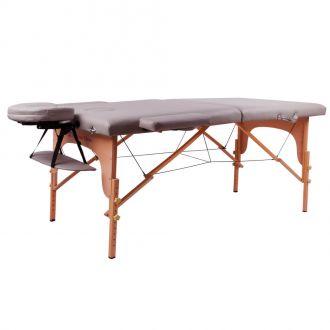 Masážní lehátko inSPORTline Taisage 2-dílné dřevěné