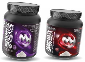 Maxxwin 100% Creatine Monohydrate 550g + CARBO MAXX 500g