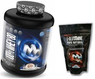 MaxxWin 100% WHEY 80 2200g + L-Glutamine 300g