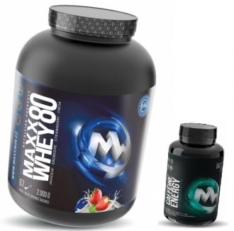 MaxxWin Whey Maxx 80 + Caffeine energy 60tbl ZDARMA