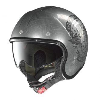 Moto helma Nolan N21 Speed Junkies Scratched Chrome