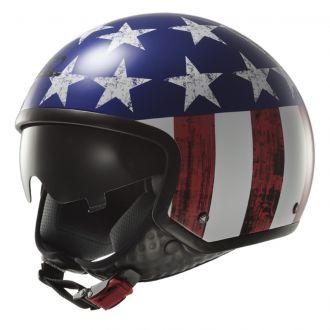 Moto přilba LS2 OF561 Wave Raw US Flag