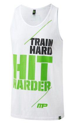 Musclepharm Graphic Vest Hit Harder White