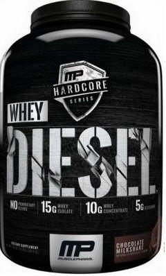 MusclePharm Hardcore Whey Diesel 1814g + Muscletech Casein 3serv.