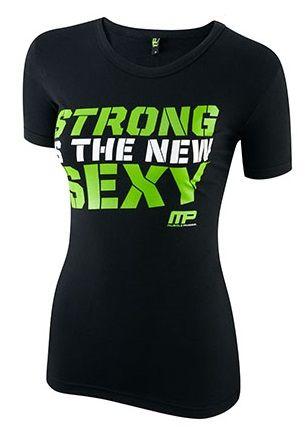 Musclepharm Womens Crew Neck Strong Green