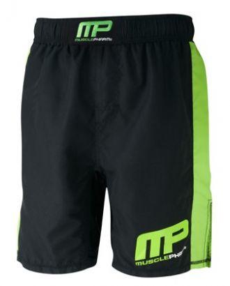 Musclepharm Woven Short Logo Black Lime-Green