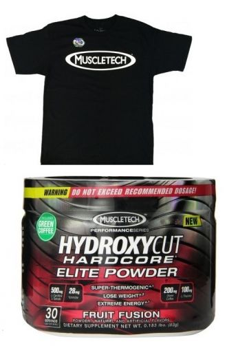MuscleTech Hydroxycut Hardcore Elite 80g + originál triko MuscleTech