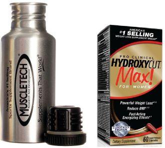 MUSCLETECH HYDROXYCUT MAX FOR WOMEN 120 kapslí + kovová láhev Muscletech