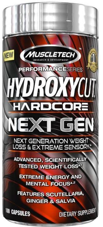 MuscleTech Hydroxycut NEXT GEN 100kps + 3x Mission1 Clean Protein Bar