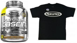 Muscletech Platinum 100% CASEIN + triko Muscletech