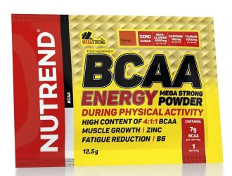 NUTREND BCAA ENERGY MEGA STRONG POWDER 20x12,5g malina