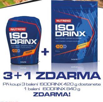NUTREND ISODRINX 420g - AKCE 3x 420g +1x 840g zdarma