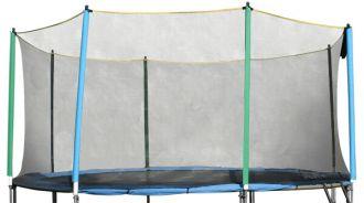 Ochranná síť inSPORTline pro trampolínový set Basic 244 cm - na 4 tyče