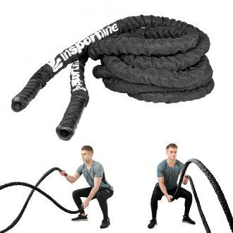Posilovací lano inSPORTline WaveRope 3,8cm x 9m