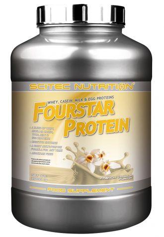Scitec Fourstar Protein 2000g + ŠEJKR + Scitec Super hero 3 dávky