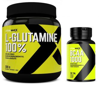 Vitalmax 100% L-GLUTAMIN 500g + BCAA 2000 50 kps