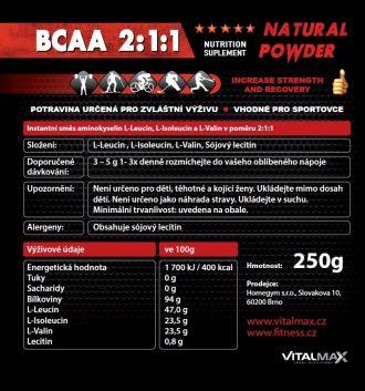 Vitalmax BCAA 2:1:1 natural 250g