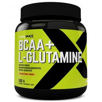 Vitalmax BCAA + L-GLUTAMINE 500g INSTANT pomeranč