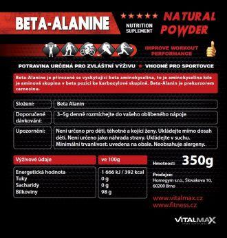 Vitalmax BETA-ALANINE natural 350g