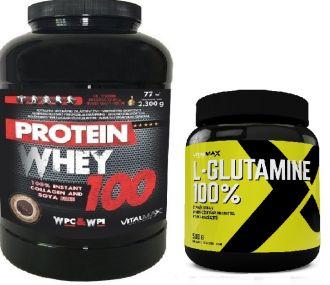 Vitalmax PROTEIN WHEY 100 / 2300g + L-GLUTAMINE 500g