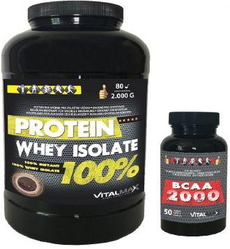 Vitalmax PROTEIN WHEY ISOLATE 100% 2000g + BCAA 2000