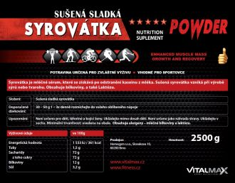 Vitalmax SYROV�TKA natural 2500g