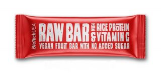 Biotech Raw bar with rice protein and vitamin C 40g