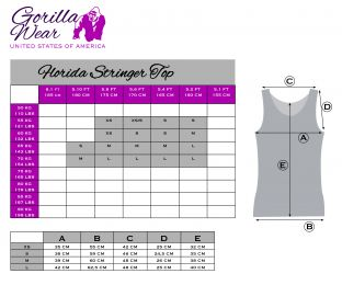GORILLA WEAR Florida Stringer Tank Top Anthracite/Pink
