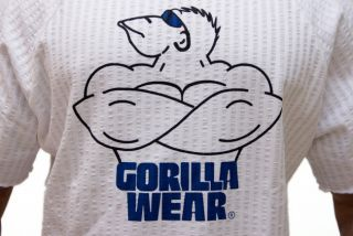 GORILLA WEAR Wacky Work Out Top White