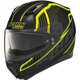 Moto helma Nolan N87 Harp N-Com Flat Black-Yellow + servis u Vás doma provádíme kdekoliv v ČR
