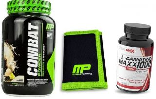 MusclePharm COMBAT 908g + Peněženka MusclePharm + L-carnitin 1000