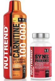 Nutrend CARNITINE 100000 1000ml + SYNEPHRINE 60 kaps