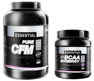 PROM-IN Essential Pure CFM 80 100% whey protein 2250g + BCAA SYNERGY 550g