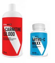 Vitalmax L-CARNITIN LIQUID 150.000 + Vitalmax ARTRO-C MAXX